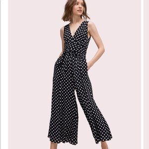 Kate Spade Black & White Polka Dot Jumpsuit